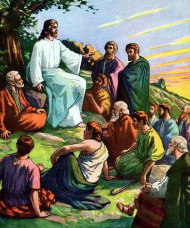 Иисус проповедует