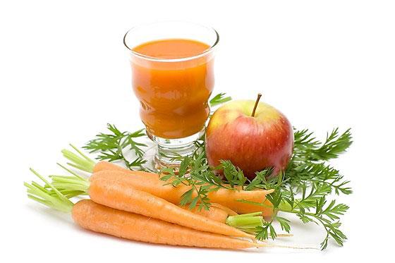 Морковка и яблоко