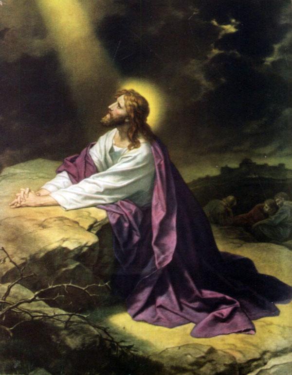 Иисус молится ночью